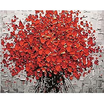 Dibujo Sin marco Chica Paisaje Arte de la pared Pintado a mano Modular Abstracto Decoración del hogar Dibujos para colorear Digital Puzzle 40X50Cm: ...