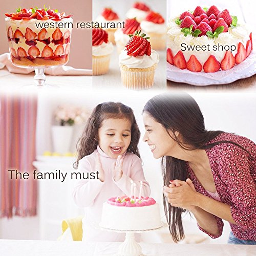 Mostia Strawberry Slicer Red, Banana Slicer Yellow, Strawberry Huller Red,Fruit and Vegetable Slicer 3 in 1 Set by Mostia (Image #4)