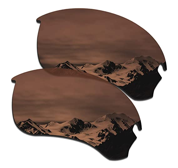 5d749f97fc19b SmartVLT Men s Amber Brown Replacement Lenses for Oakley Si Speed Jacket  Sunglass