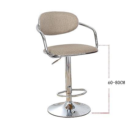 Furniture Nice Bar Stools Bar Chair Rotating Lift Backrest Chair High Stools Home Creative Beauty Round Stool Stylish Minimalist Swivel Chair Bar Chairs