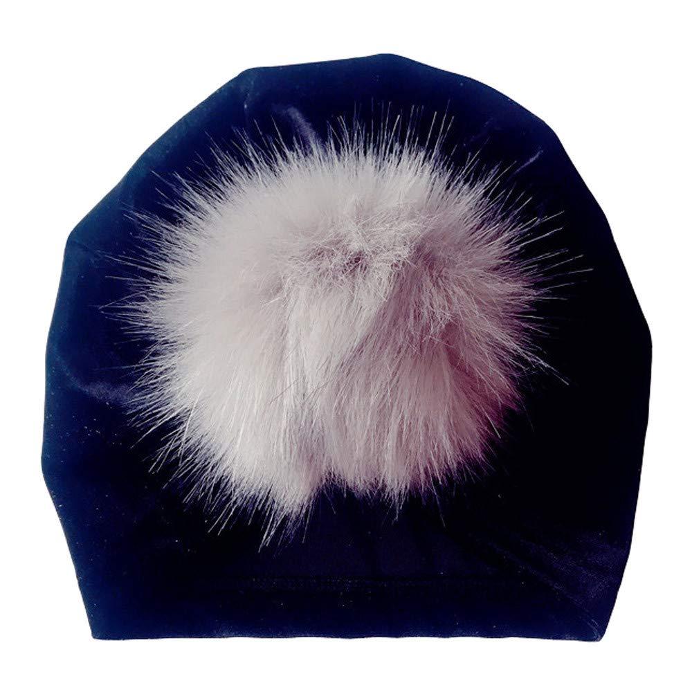 Kasien Kids Baby Hat, Newborn Toddler Kids Baby Boy Girl Venonat Turban Beanie Hat Headwear Hat (Black)