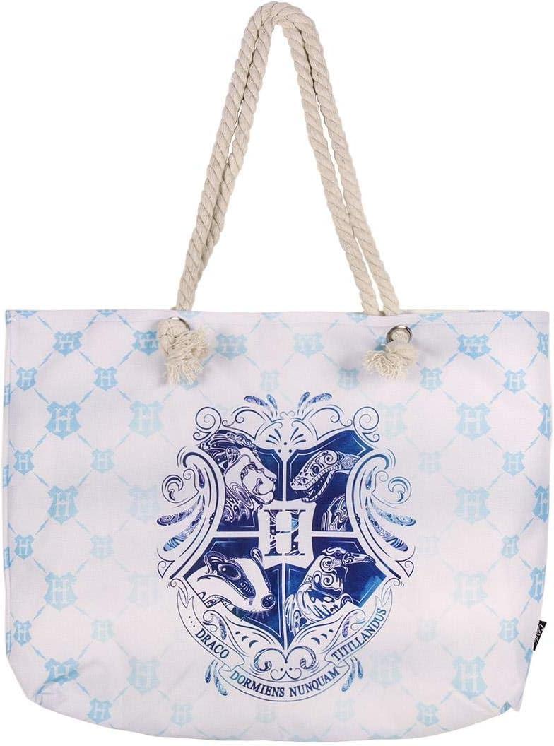 Cerdá, Bolso de playa de Harry Potter-100% Algodon Unisex niños, Azul, 52 cm: Amazon.es: Amazon.es
