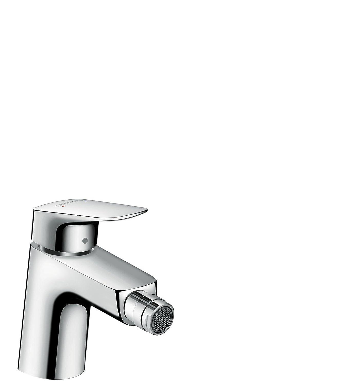 hansgrohe Logis Einhebel-Bidetmischer, Komfort-Höhe 70mm mit Zugstangen-Ablaufgarnitur, chrom 71204000