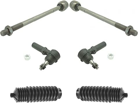 Inner /& Outer Tie Rod End w//Rack Boot Bellows Kit LH RH Set of 6 for Subaru