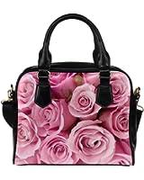 Angelinana Custom Women's Handbag Rose Fashion Shoulder Bag