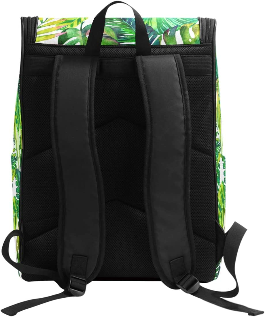 AUUXVA Backpack Tropical Beach Palm Leaves Pattern Durable Laptop Travel Shoulder Bag Hiking for Women Girls Men Boys