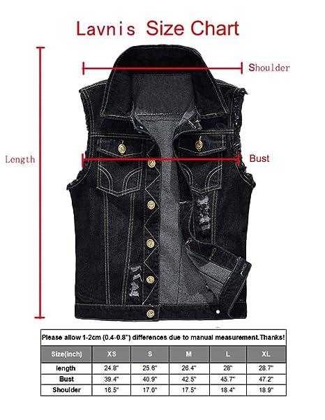 3500881b6de55e Amazon.com  Lavnis Men s Sleeveless Denim Vest Casual Slim Fit Button Down  Jeans Vests Jacket  Clothing