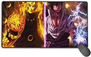 Large Mouse Pad Naruto and Sasuke Gaming Mousepad for Computer PC and Keyboard Laptop-29.5x15.7x0.1IN