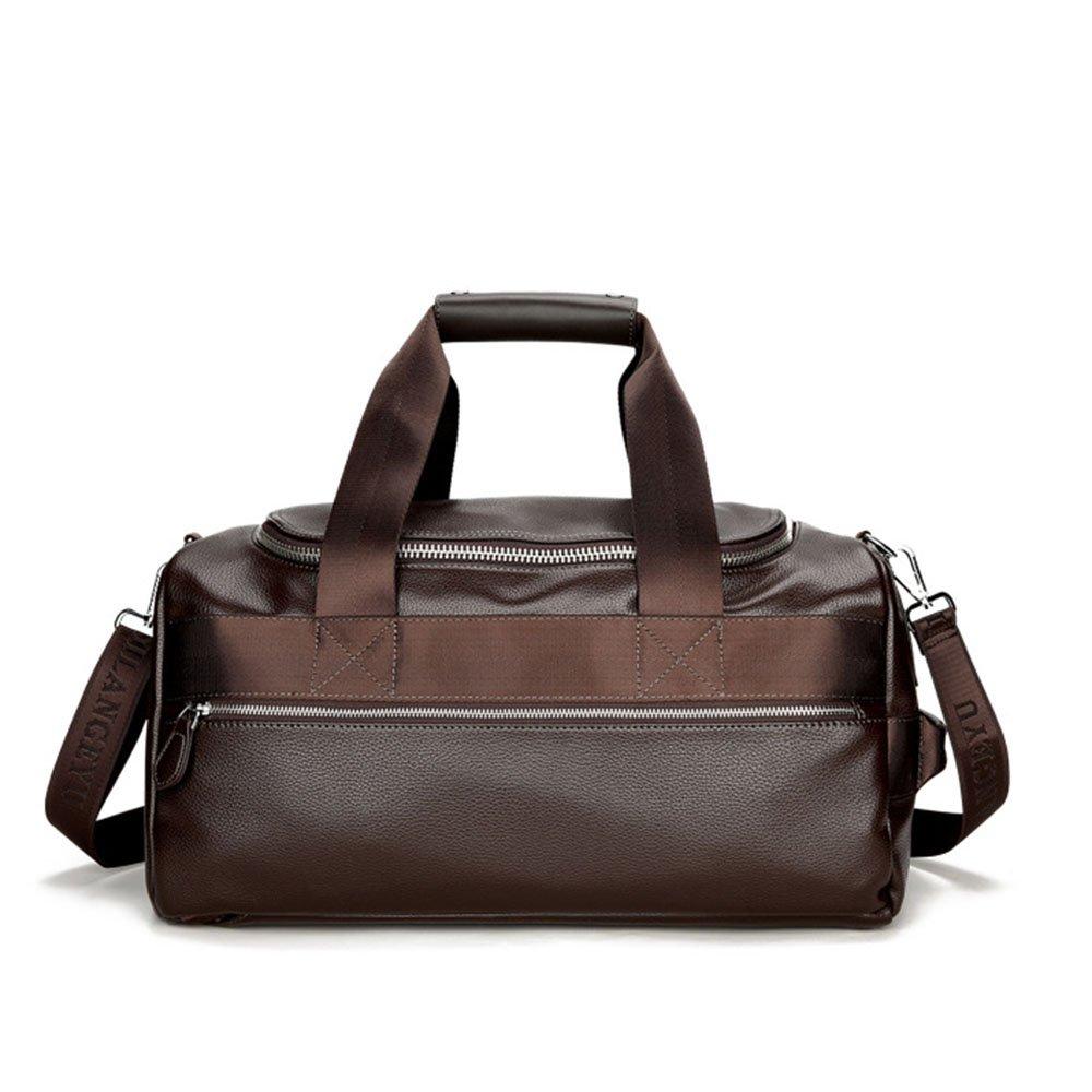 スタイリッシュなシンプルショルダーバッグハンドバッグトラベルバッグメンズビジネスバッグ荷物大容量バックパック 旅行用ハンドバッグ (色 : 褐色)  褐色 B07QRPK687