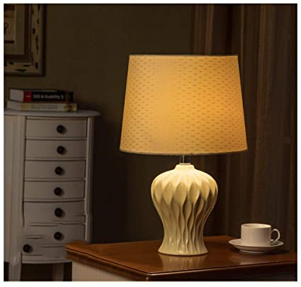 MJK Lámpara de mesa de noche, lámparas de escritorio de ...