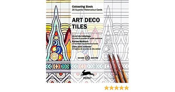 Art Deco Tiles: Colouring Card Book: Pepin Van Roojen: 9789460096570 ...