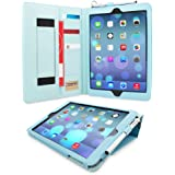 iPad Air (iPad 5) Case, Snugg™ - Executive Smart Cover With Card Slots & Lifetime Guarantee (Baby Blue Leather) for Apple iPad Air (2013)