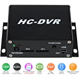KKMOON 1CH channel H.264 720P/VGA/QVGA CCTV Surveillance HDMI Mini DVR Digital Video Recorder with Dual TF Card Slot Remote Control Audio Record Plug and Play for Security Analog Camera
