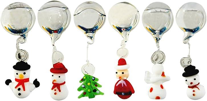 4er Set Boules de Noël Boules de Cristal avec Neige étoiles environ 7 cm