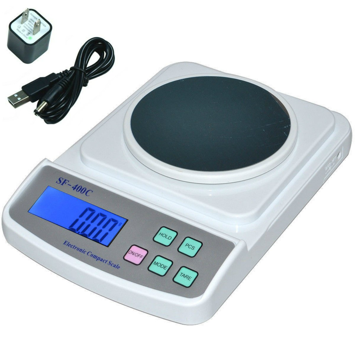 500g/0.01g Portable Electronic Laboratory School Scale with AC/DC Adapter | Lab Precision Balance Digital Electronic Scale