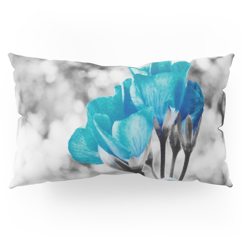 Society6 Turquoise FloWERS Pillow Sham King (20'' x 36'') Set of 2