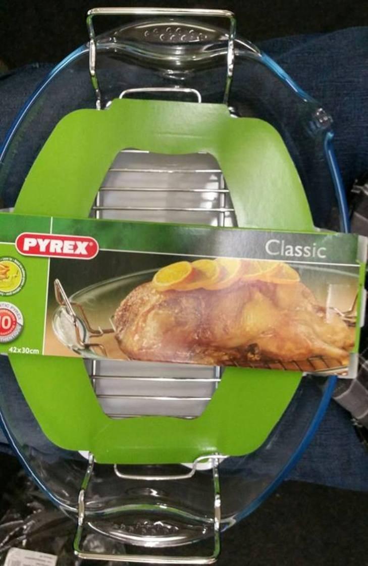 Pyrex Classic – Fuente de horno ovalada con rejilla, 42 x 30 cm ...