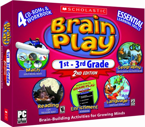 Early Learning Software - Scholastic Brain Play 1st - 3rd Grade (2nd Edition)
