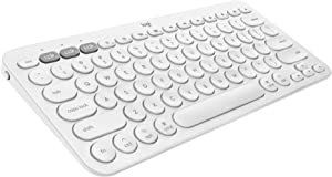 Logitech K380 for Mac + M350 Wireless Keyboard and Mouse Combo - Slim Portable Design, Quiet clicks, Long Battery Life, Bluetooth, Multi Device with Easy-Switch - macOS, iPadOS, iOS - White