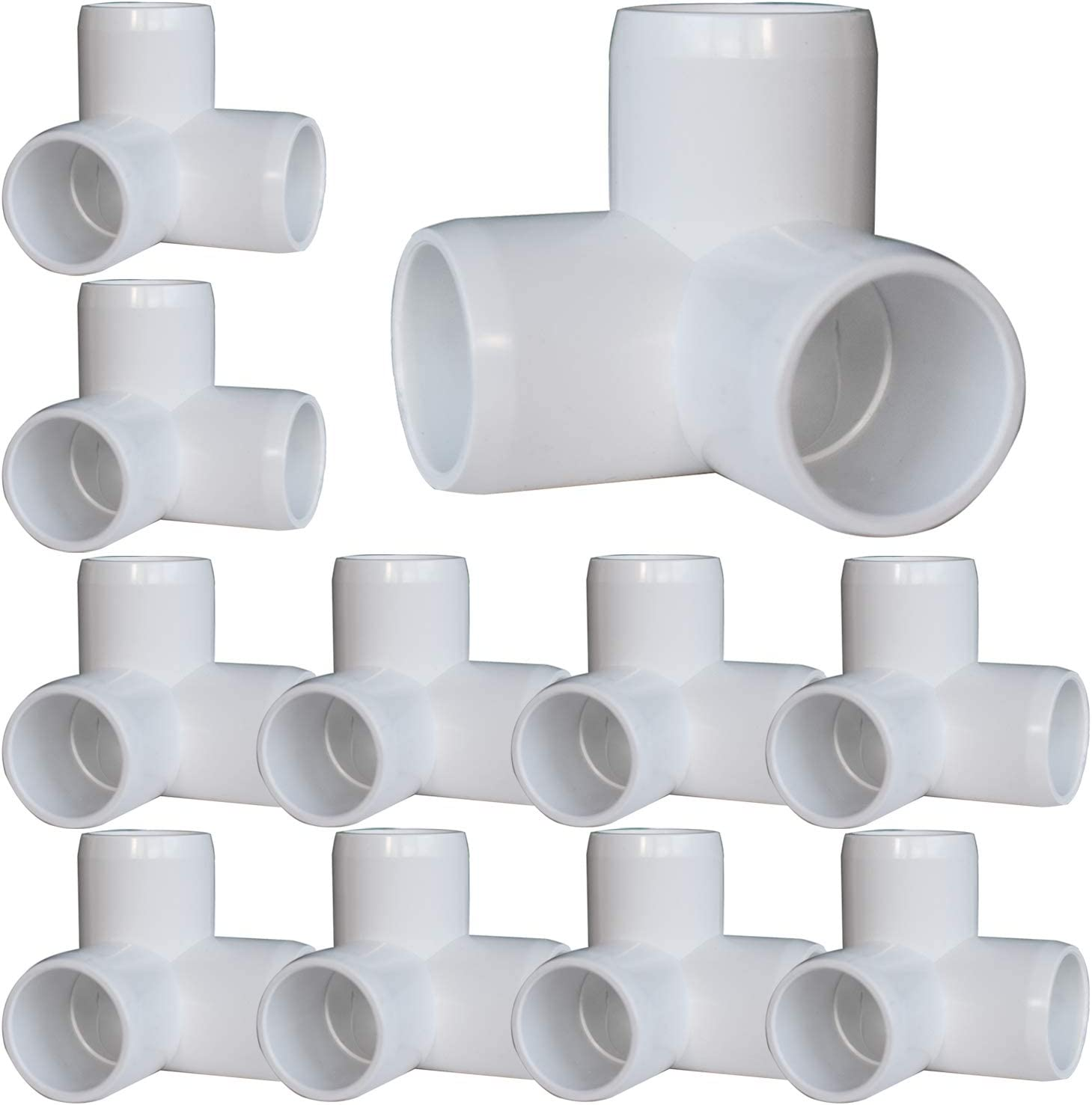 20Pack 3-Way Elbow PVC Fittings, 1/2Inch PVC Furniture Fittings, 90 Degree PVC Elbow Side Outlet Tee, PVC Corner Fittings for Building PVC Furniture Greenhouse Shed Pipe Fittings Tent Connection