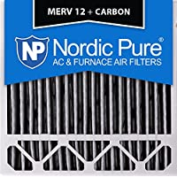Nordic Pure 20x20x5 (4-3/8 Actual Depth) Honeywell Replacement Pleated MERV 12 Plus Carbon AC Furnace Air Filter, Box of 1