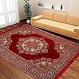 "Super India Chenille Carpet - 60"" x 84"", Maroon"