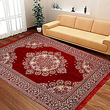 Laying Style Velvet Touch Abstract Chenille Carpet