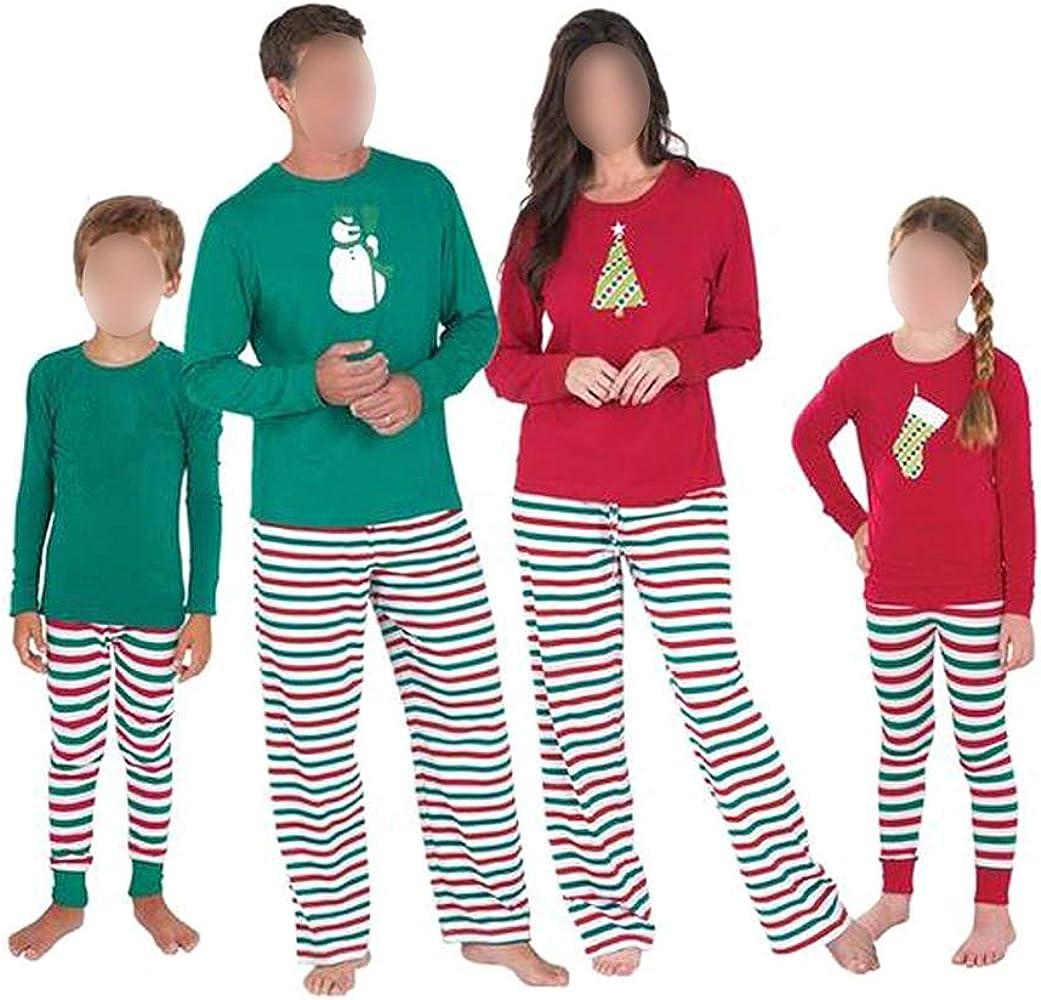 Hzjundasi Familia de Coincidencia de Patrones de Navidad Pijamas ...