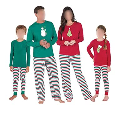 Hzjundasi Family Matching Christmas Pattern Pajamas Set - Men Women Boy  Girl Kids Baby Xmas PJs 32d9c3e10