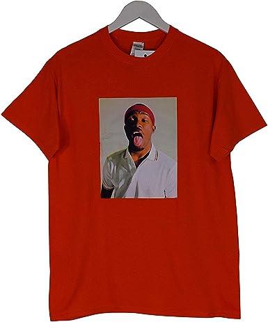 Actual Fact Frank Ocean Lengua ODD Future Rap Naranja Camiseta Top: Amazon.es: Ropa y accesorios