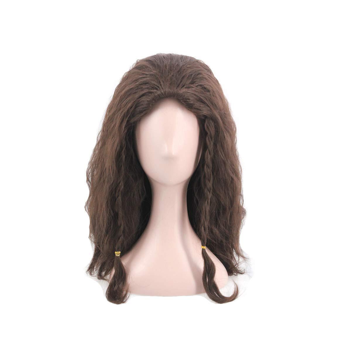 Man's Short Fluffy Cosplay Wig Haollween Wig for Movie (Dark Brown) by SpeedBeauty