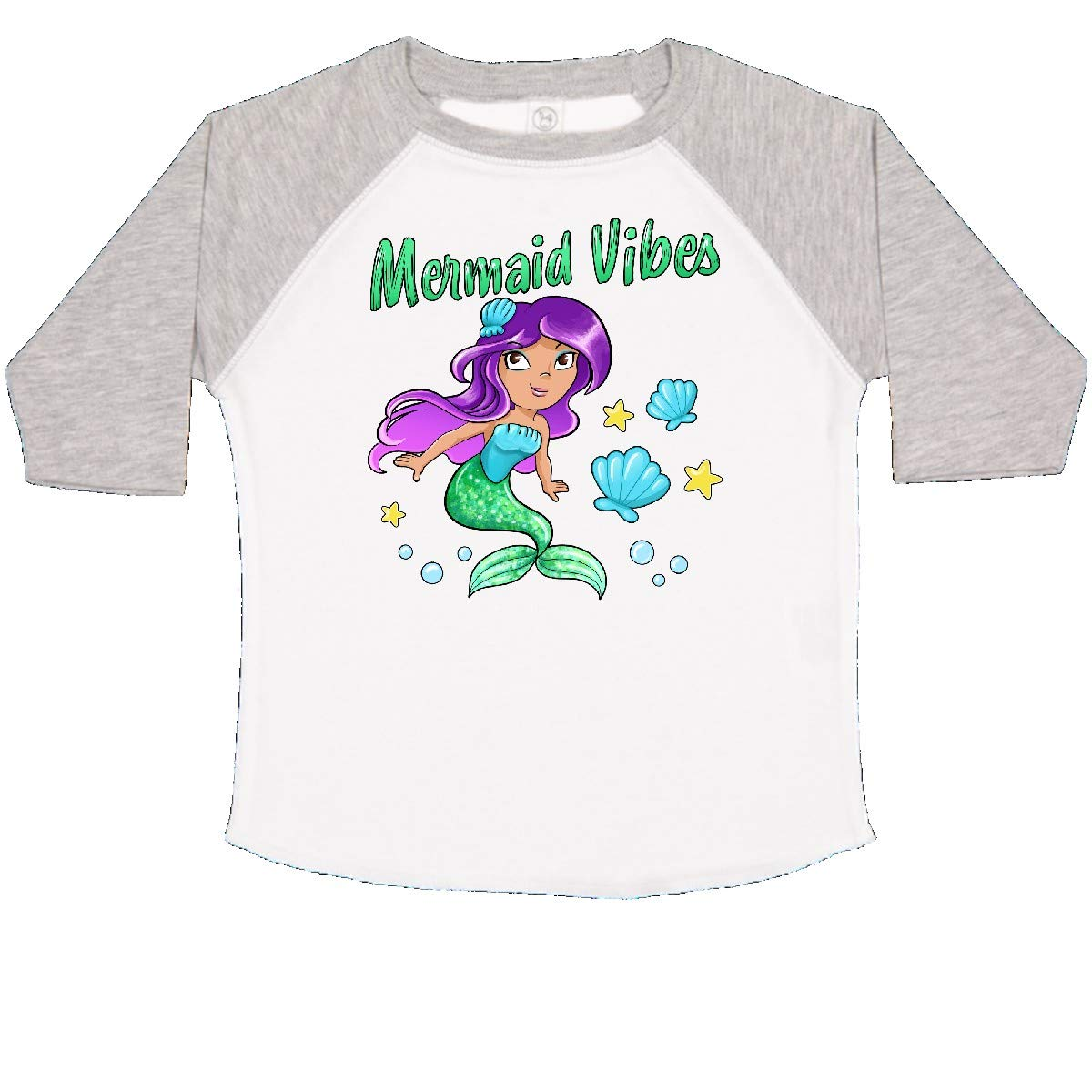 inktastic Mermaid Vibes Cute Mermaid with Green Tail Toddler T-Shirt