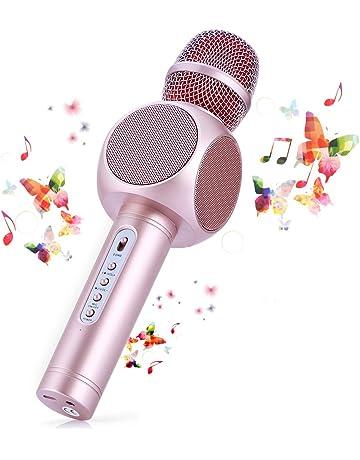 Micrófono Karaoke Bluetooth Fede con 2 Altavoces Incorporados, Microfono Inalámbrico Karaoke Portátil para Cantar,