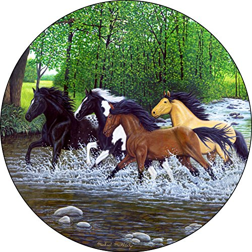 Free Spirits (horse #18) Tire Cover for 235/75R15 Jeep RV and more (Select from popular sizes in drop down menu or contact us