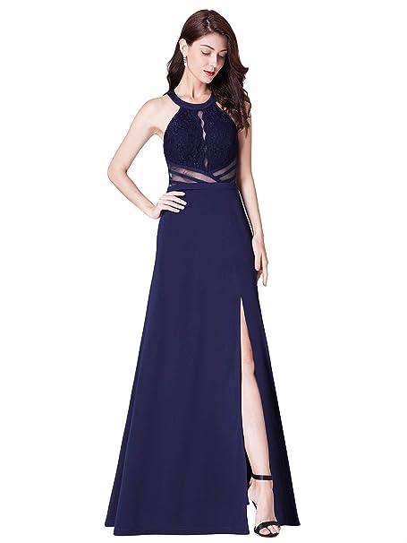 f2f70643401c Ever Pretty Women's Elegant Empire Waist A Line Lace Chiffon Formal Evening  Dresses Navy Blue 12UK