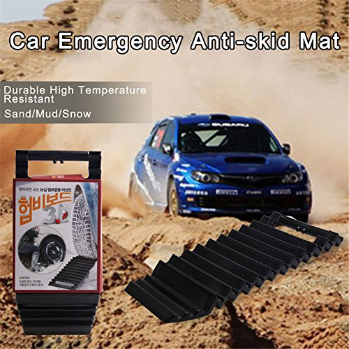 Car Wheel Anti-skid Pad Car Tire Traction Auto Emergency Mat Wheel Traction Mat Escaper Pad Anti-skid Anti-trap Self-help Tool for From Snow/ Ice/Mud/Sand