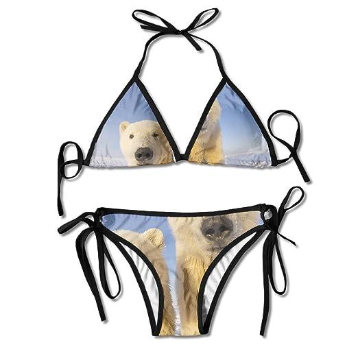 75d2a529ff25d Women Cute Polar Bear Funny Animal Stylish Bikini Swimsuit Summer Beach  Bathing Suits Push Up Brazilian