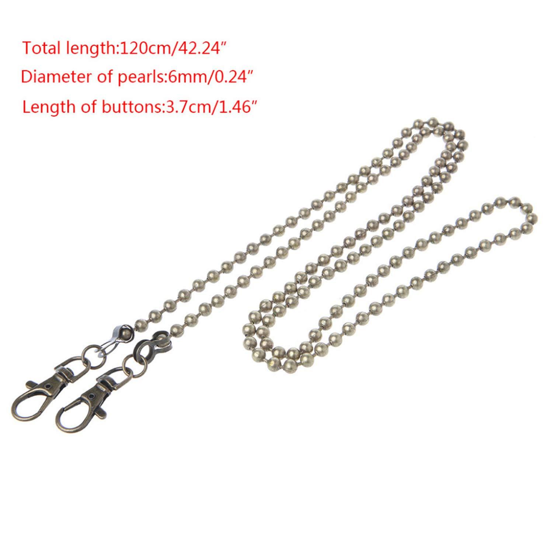 Splento Lungo 120 cm 50 cm Moda Metallo Borsa Tracolla Cinghie Maniglia Tracolla Croce Corpo Borsa di Ricambio
