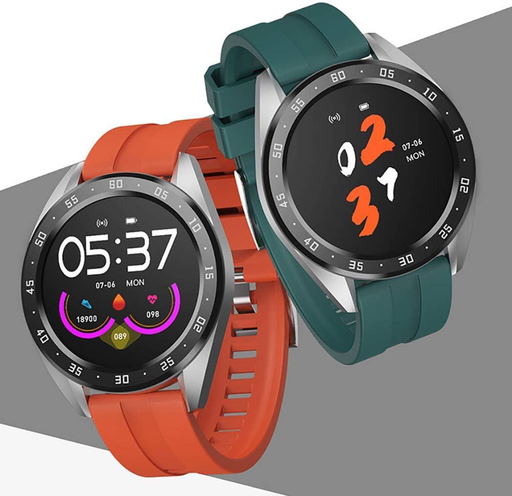 Pulsera Actividad Impermeable, Reloj Inteligente con Pulsómetro Y Tensiómetro, Reloj Deportivo con GPS Compatible A Android Y iPhone