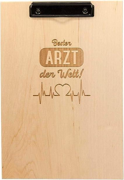 Tabla de madera A4 con grabado de alta calidad, regalo para médicos, regalo para médicos, regalo para médicos como agradecimiento: Amazon.es: Oficina y papelería