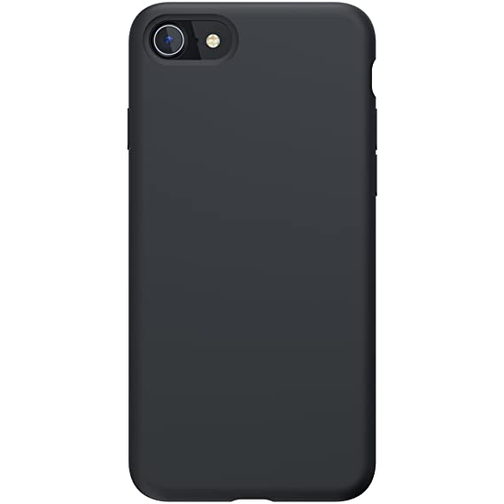 wholesale dealer f09c3 1b6d6 PowerBear iPhone 8/7 Silicone Case | Rubber Shock Absorption Case - Black