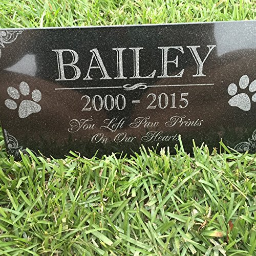 amazon com you left paw prints on our hearts pet memorial stones