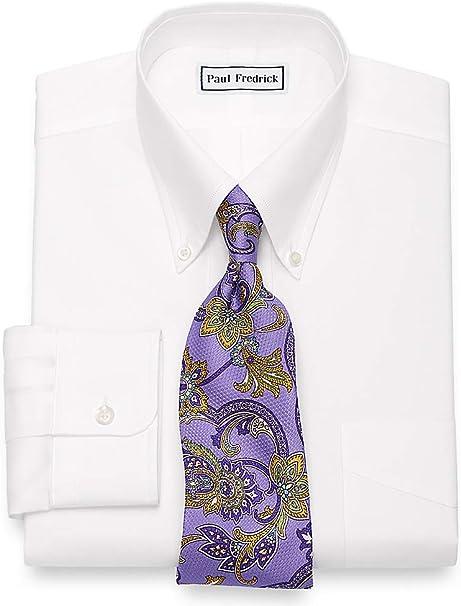 Paul Fredrick Mens Egyptian Cotton Button Down Collar Dress Shirt