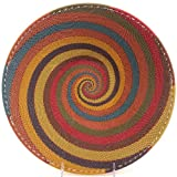 Fair Trade Zulu African Wire Large Shallow Bowl, Approximately 12'' Across, #28765