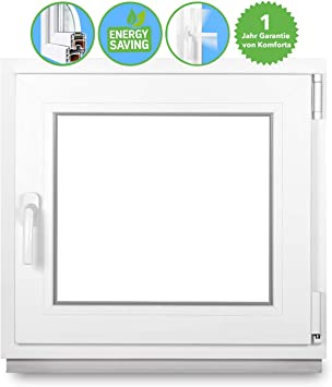 Kunststoff 2 Fach FIB Premium BxH: 120x40 cm Kunststofffenster Festverglasung Breite: 120 cm Wei/ß