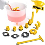Thorstone Spill Free Radiator Coolant Filling Funnel Kit | No Spill Radiator Funnel Bleeder,with Adapters Fit Universal Vehic