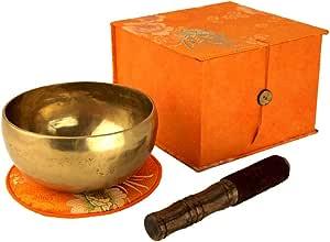 5017-L - Tazón tibetano (en caja, con mazo y cojín): Amazon.es: Instrumentos musicales
