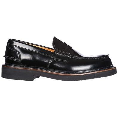 Premiata Mocasines en Piel Hombres Nuevo Natura Negro EU 40 30876X: Amazon.es: Zapatos y complementos