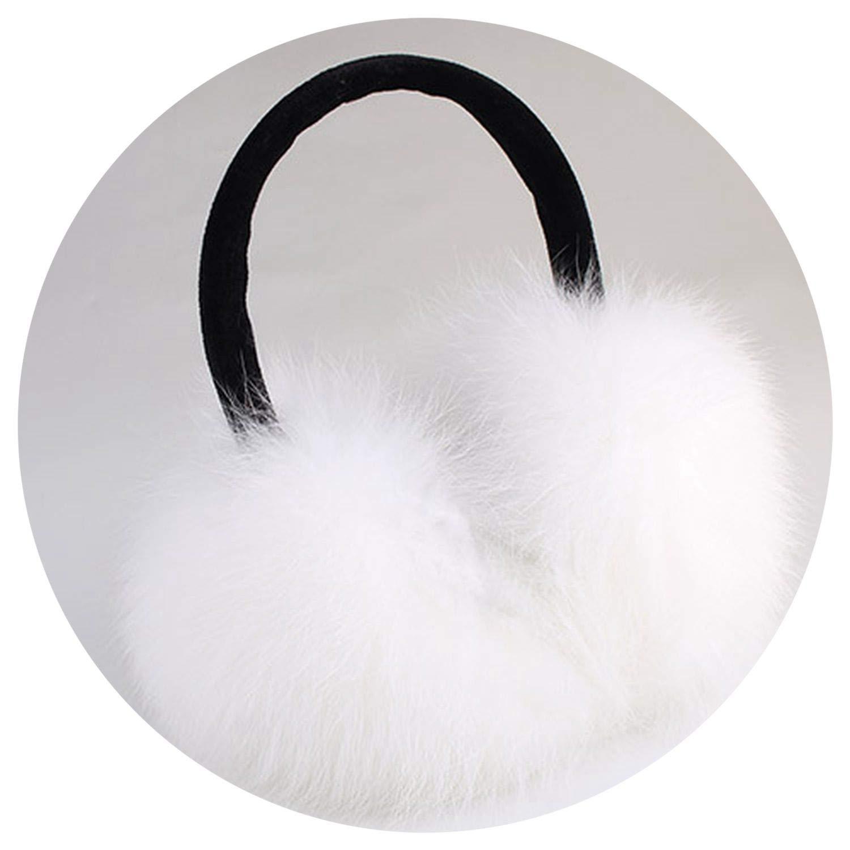 warm Real Earmuffs Girl's Earlap Ultralarge Imitation ie's Plush Ear Muff,white,
