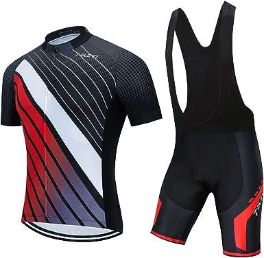 Ciclismo Jersey Pantalones Cortos Conjunto Traje Acolchado Bicicleta Tops Camisa Bicicleta Monta/ña